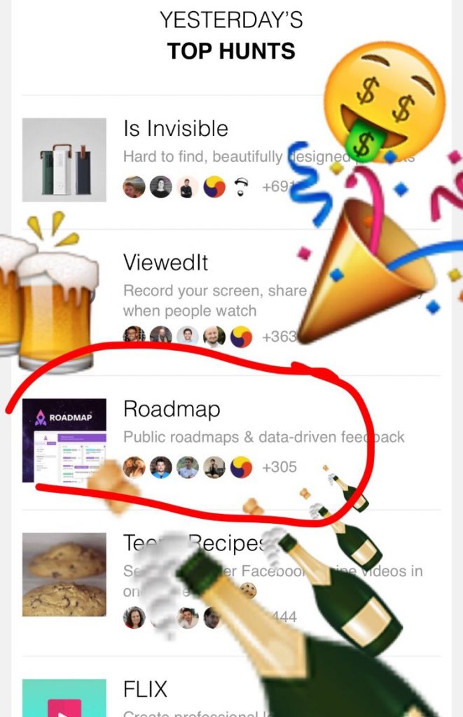 ProductHunt trending