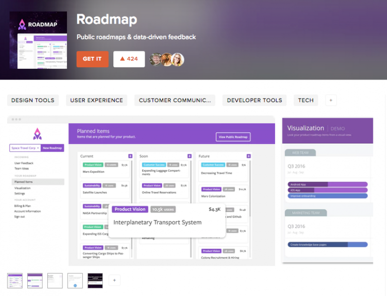 We launched Roadmap with Product Hunt
